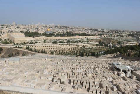 View of the grave sites on the Mt of Olives